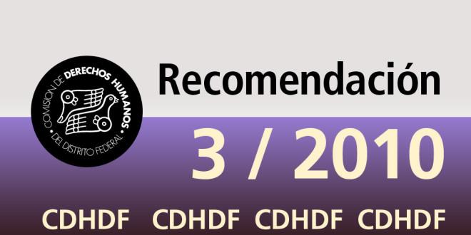Recomendación 3/2010