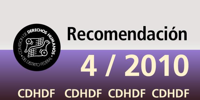 Recomendación 4/2010