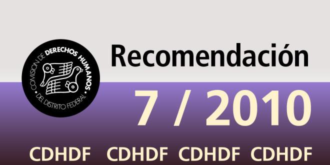 Recomendación 7/2010