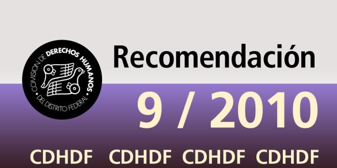 Recomendación 9/2010