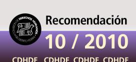 Recomendación 10/2010