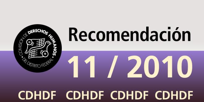 Recomendación 11/2010