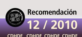 Recomendación 12/2010