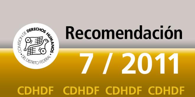 Recomendación 7/2011