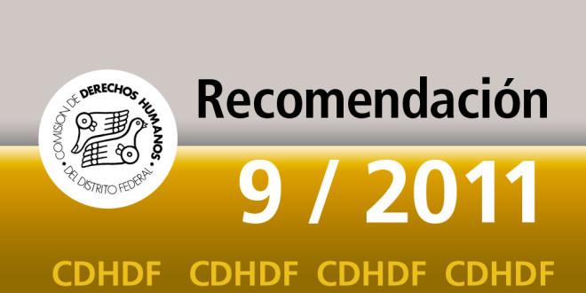 Recomendación 9/2011