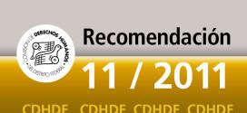 Recomendación 11/2011