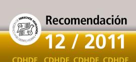 Recomendación 12/2011