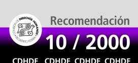 Recomendación 10/2000