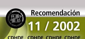 Recomendación 11/2002