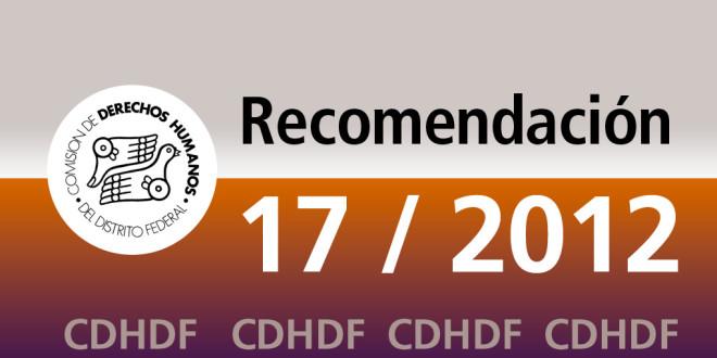 Recomendación 17/2012