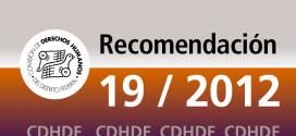 Recomendación 19/2012