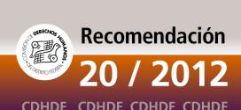 Recomendación 20/2012