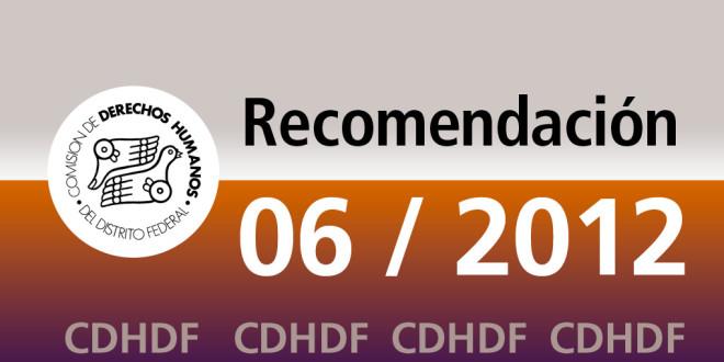 Recomendación 6/2012