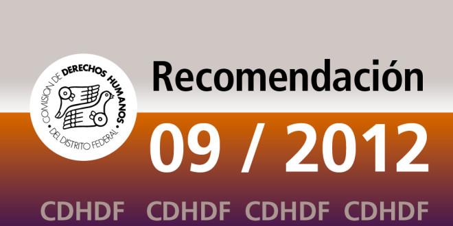 Recomendación 9/2012