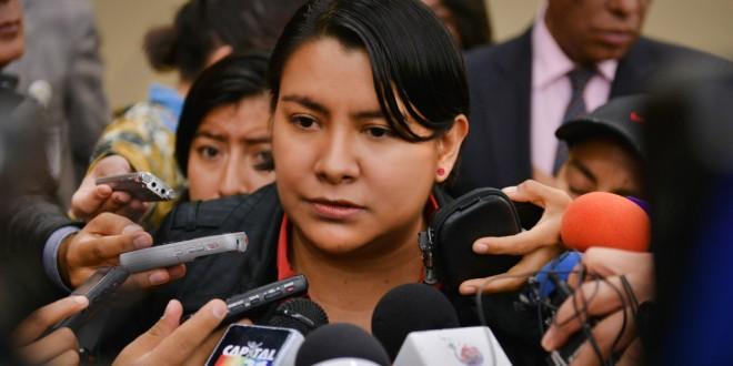 Entrevista a la Presidenta de la CDHDF, Doctora Perla Gómez Gallardo, al término de la conferencia de prensa   Discapacidad y Telecomunicaciones