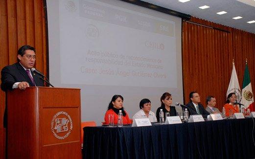 Acto Público de Reconocimiento de Responsabilidad del Estado Mexicano, en el Caso de la Desaparición de Jesús Ángel Gutiérrez Olvera