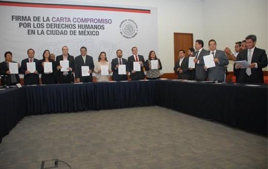 Firman delegadas y delegados electos Carta Compromiso por los derechos humanos en las delegaciones políticas del Distrito Federal