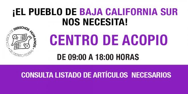 Centro de Acopio para Baja California Sur