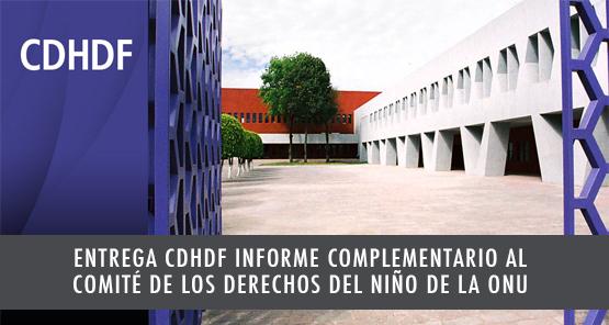 Entrega la CDHDF Informe Complementario al Comité de los Derechos del Niño de la ONU