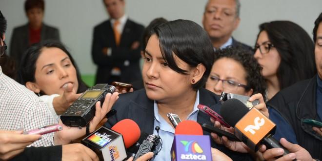 Entrevista a la Doctora Perla Gómez Gallardo, Presidenta de la Comisión de Derechos Humanos del Distrito Federal, al término de la presentación de la Recomendación 5/2014