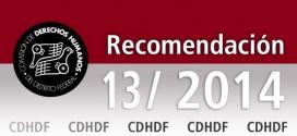 Recomendación 13/2014