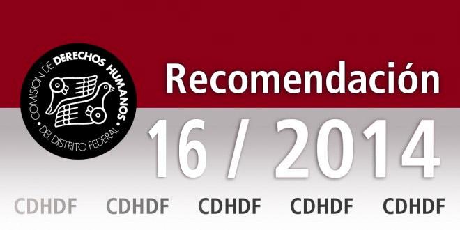 Recomendación 16/2014
