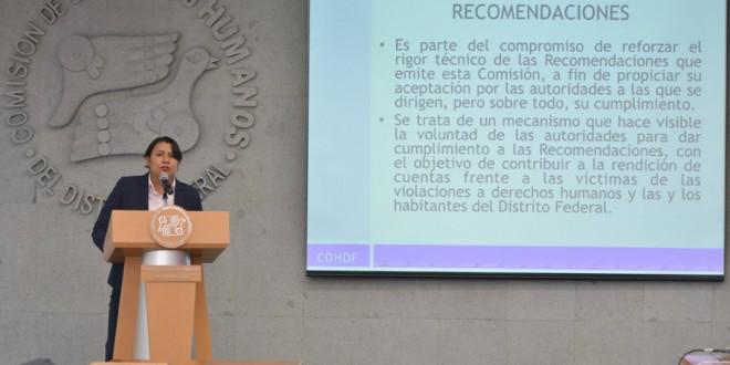 La CDHDF presentó el Índice de Cumplimiento de Recomendaciones (ICR)