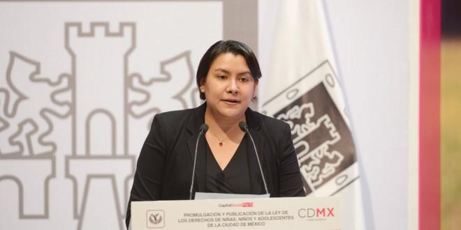 Palabras de la Doctora Perla Gómez Gallardo, Presidenta de la CDHDF, en la publicación de la Ley de Niñas, Niños y Adolescentes, realizada en el Palacio del Ayuntamiento