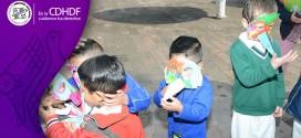 Juegan y aprenden  sobre sus Derechos niñas y niños en la CDHDF