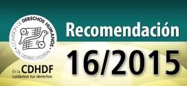 Recomendación 16/2015