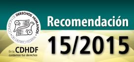 Recomendación 15/2015