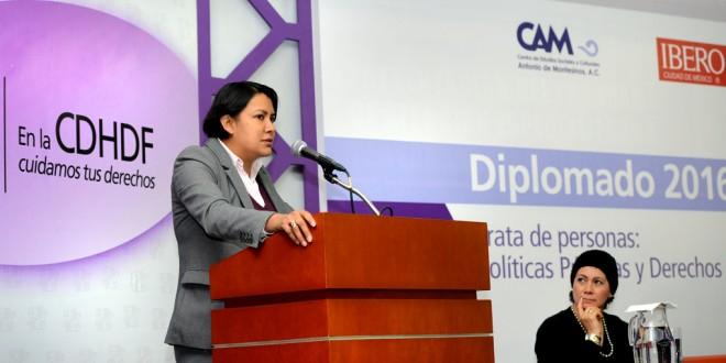 Palabras de la Doctora Perla Gómez Gallardo, Presidenta de la CDHDF, en la inauguración del Diplomado Trata de Personas: Políticas Públicas y Derechos Humanos