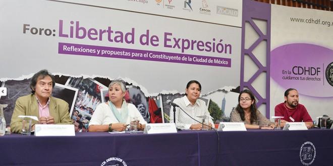 En México, el Derecho a la Libertad de Expresión está en crisis: CDHDF