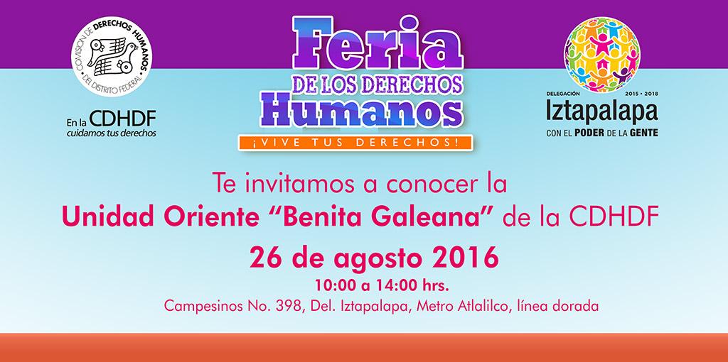 """Feria de los Derechos Humanos ¡Vive tus Derechos! @ Unidad Oriente """"Benita Galeana"""""""