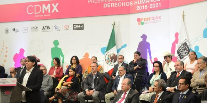 Discurso de la Doctora Perla Gómez Gallardo, Presidenta de la CDHDF, en la presentación de la actualización del Diagnóstico y Programa de Derechos Humanos de la Ciudad de México 2016-2021