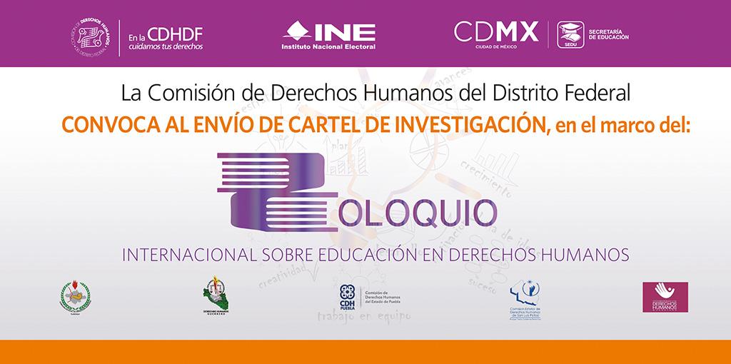 Convocatoria Coloquio Internacional sobre Educación en Derechos Humanos