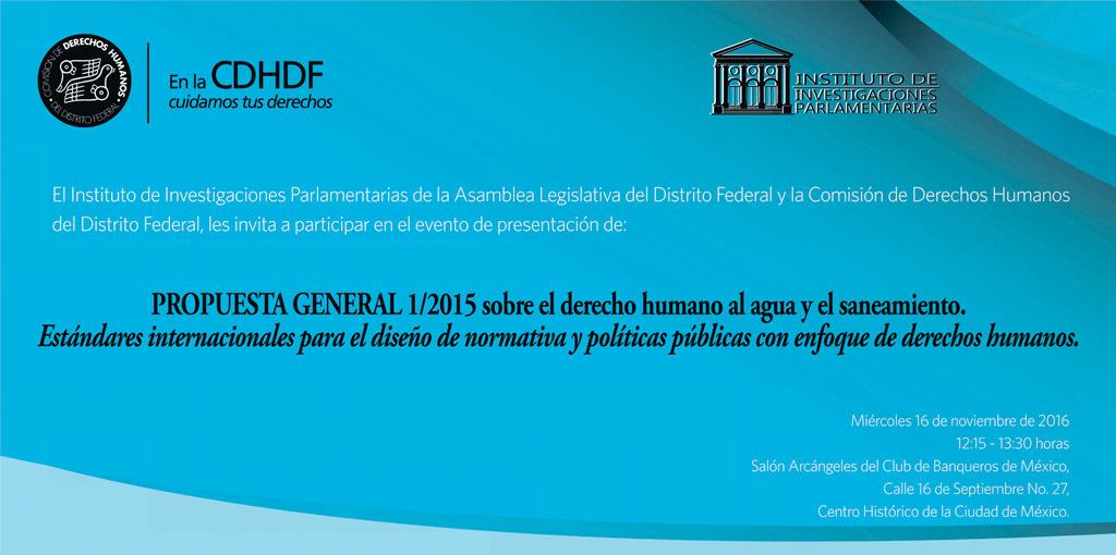 Presentación Propuesta General 1/2015 @ Salón Arcángeles del Club de Banqueros de México