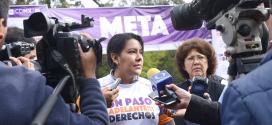 """Entrevista a la Presidenta de la CDHDF; Perla Gómez Gallardo, en el marco de la Carrera-Caminata """"Un Paso adelante por tus derechos humanos"""", realizada en el parque """"Viveros de Coyoacán""""."""