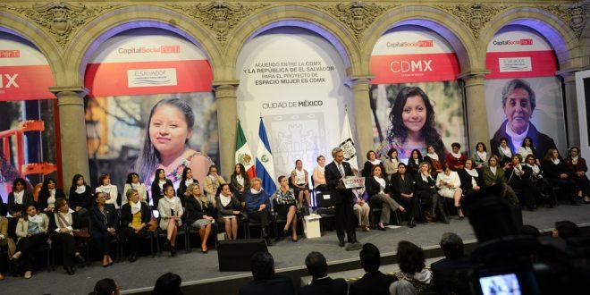 Firma de la Carta de Intención entre la CDMX y la Secretaría de inclusión Social del Gobierno de El Salvador