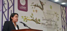 Discurso de la Presidenta de la CDHDF, Doctora Perla Gómez Gallardo, en el evento Sembrando Derechos para Cosechar la Paz. Innovación Tecnológica al Modelo Educativo de la Casa del Árbol