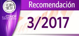 Recomendación 3/2017