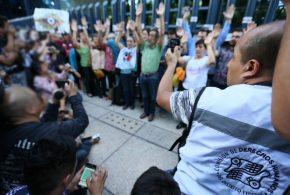 Galería: CDHDF monitoreó y acompañó protesta #GobiernoEspía