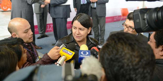 Entrevista a la Presidenta de la CDHDF, Doctora Perla Gómez Gallardo, al término de la inauguración del 12º Congreso Nacional de OPAM