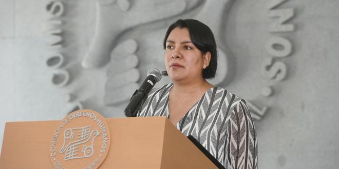 Transcripción de las palabras de la Presidenta de la Comisión de Derechos Humanos del Distrito Federal, Doctora Perla Gómez Gallardo, durante la Recomendación  4/2017