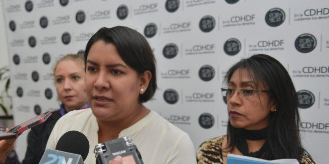 """Entrevista a la Presidenta de la CDHDF, Dra Perla Gómez, al término de la Conferencia de Prensa sobre las """"Acciones para la defensa de la Constitución Política de la Ciudad de México"""""""