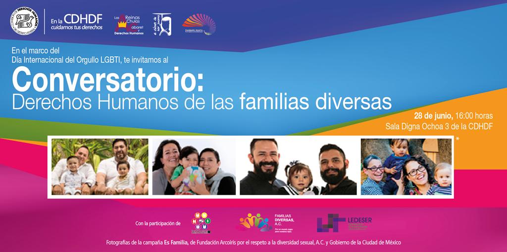 Conversatorio: Derechos Humanos de las familias diversas @ CDHDF