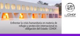 Enfrentar la crisis humanitaria en materia de refugio y protección internacional es obligación del Estado: CDHDF.