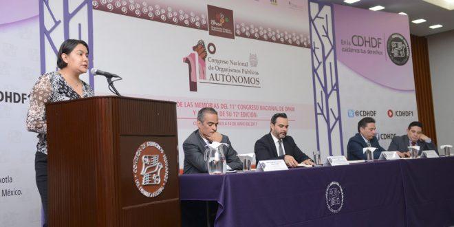 Palabras de la Presidenta de la CDHDF, Doctora Perla Gómez Gallardo, durante la presentación de las Memorias del 11º Congreso Nacional de OPAM, así como el anuncio de la 12ª edición del mismo