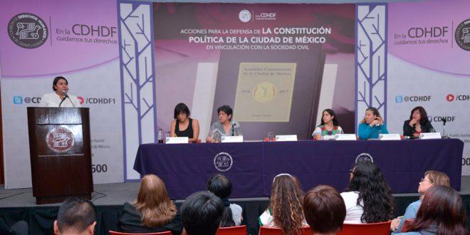 """Discurso de la Presidenta de la CDHDF, Dra Perla Gómez, en la Conferencia de Prensa sobre las """"Acciones para la defensa de la Constitución Política de la Ciudad de México"""""""