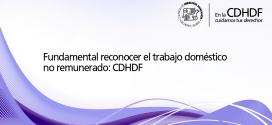 Fundamental reconocer el trabajo doméstico no remunerado: CDHDF
